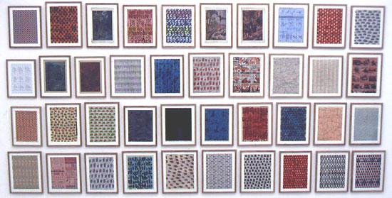 "vue de l'exposition ""intra muros"" de Jochen Gerner"